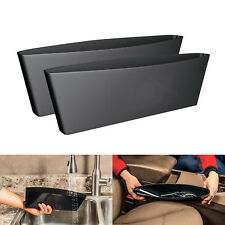 2 Pcs Black Storage Bags Organizer Box Caddy Car Seat Slit Pocket Car Pouch