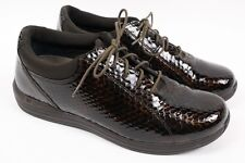 DREW Tulip Brown Snakeskin Print Leather Lace up Oxford Walking Shoe Women 11 N
