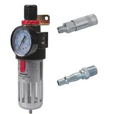 """COMPRESSOR AIR LINE FILTER WATER TRAP REGULATOR PLUS PCL STYLE 1/4"""" FITTINGS"""