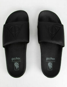 Vans Off The Wall Men's X Harry Potter Slide-On Deathly Hollows Sandals, Size 12