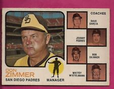 1973 OPC  # 12 PADRES DON ZIMMER MANAGER EX+ CARD (INV# A4789)