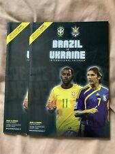 Brazil Ukraine Hand Signed Programme Lucas Leiva Liverpool Lazio FIFA Friendly