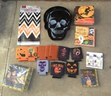 Lot Of 43 Nwt Halloween Serving Dishes, DÉCor Items, And Other