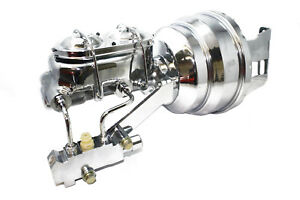 """70-81 Chevy Camaro Chrome 8"""" Booster w/ Master Cylinder & Proportioning Valve"""