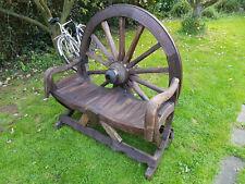 More details for vintage teak cartwheel bullock cart bench