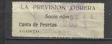 4048-SELLO CUOTA FISCAL BENEFICO LA PREVISION OBRERA.2,65  PESETAS
