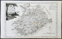 1782 T. Condor Original Antqiue Map Munster County, Ireland - Galway Bay to Cork