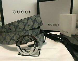 Gucci Belt Imprime Silver Double Reverse G Buckle for waist 34-36in(100/40cm)