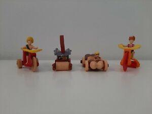 1993 McDonald's Happy Meal Toys Complete Set of 4 The Flintstones Figures