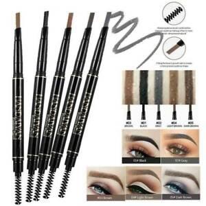 Waterproof Eyebrow Definer Retractable Brow Liner Pencil with Spoolie Makeup *1