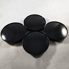 4PCS Universal ABS Black Car Wheel Center Hub Caps Covers Set No Emblem 68mm