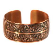 Pure 100% Copper Bracelet Bioactive Bangle Vintage Style Bronze Galaxy