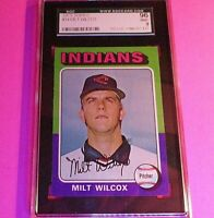 1975 Topps #14 Milt Wilcox Indians Graded SGC 96 (9) MINT,