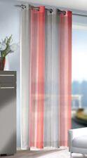 Ösenschal / Ösenvorhang Farbwechsel Rot-Weiß-Grau, BxH 135 x 245 cm, transparent