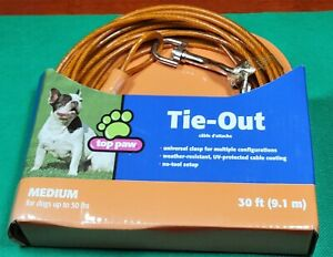 Top Paw 30ft Tie-Out Leash Up To 50#