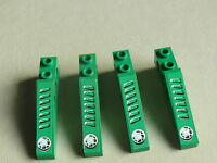 Lego 4 incline decore verts set 8213 / 4 green slope decorated left & right