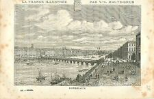 Gironde Bordeaux FRANCE GRAVURE ANTIQUE PRINT 1882