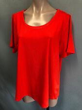 Ladies Sz 18 Belle Curve Burnt Orange Short Sleeve Round Neck Tee Shirt Top