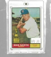 1961 Topps Ron Santo all star rookie cup - Chicago Cubs