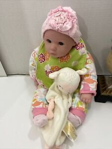 """18"""" Cloth and Vinyl Kingstate Baby Doll  Blue eyes"""