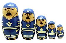 Toronto Maple Leafs Russian Nesting Dolls Set of 5 with Free Nhl Carrying Case