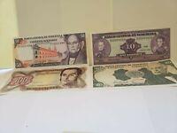 Venezuela 10,20,50 Bolivares 1995 +100,1992 UNC