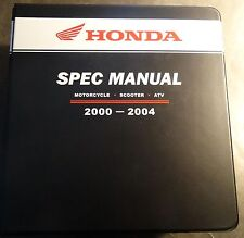 Huge 2000-2004 Honda Dealer Motorcycle, Scooter, & Atv Spec Manual (215)