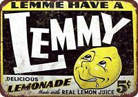 """LEMMY Delicious Lemonade Vintage Rustic Retro Metal Sign 8"""" x 12"""""""
