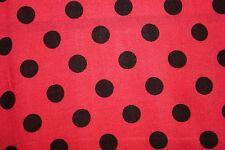 Red Black Polka-Dot Print #5 100 Rayon Challis Sewing Shirt Apparel Fabric BTY