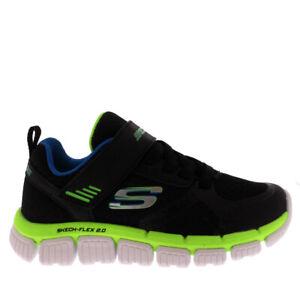 Kids Boys Skechers Skech Flex 2.0 Swift Walking Memory Foam Trainers All Sizes