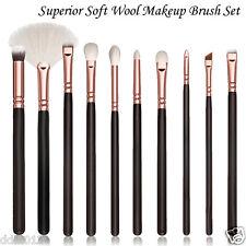 10PC Professional Kabuki Style Animal Hair Makeup Brush Set Complete Eye Brushes