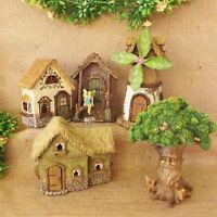 Bois Mini Monde Fairy Pixie Forêt Jardin Maison Cottage Arbre Moulin à Vent