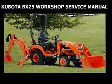 Kubota Bx25 Workshop Service Manual 435pg w Rck-54 Rck-60 Mower & Tractor Repair