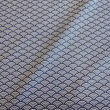 Stoff Baumwollstoff beschichtet Wellen Seigaiha blau Japan abwaschbar Tischdecke