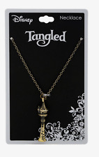 Disney Tangled Rapunzel Tower Burnished Gold Tone Pendent Necklace New With Tags
