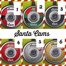 Santa cam Flat Bauble Fun 3D Effect Lens Elf Watch Christmas Tree Wall Camera