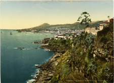 P. Z. Portugal, Madeira, Funchal Bay from east Vintage print photochromie, vin
