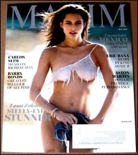 May 2017 Maxim Magazine Lana Zakocela Carlos Slim Barry Bonds Eric Bana A Martin