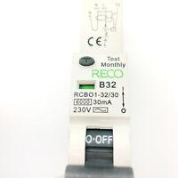 CTI ZCBO32 32 Amp Type B Single Pole 240V 30mA B32 Residual Circuit Breaker RCBO