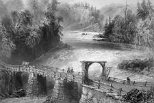 CANADA Montmorency River Bridge - 175 Years Old Print by BARTLETT
