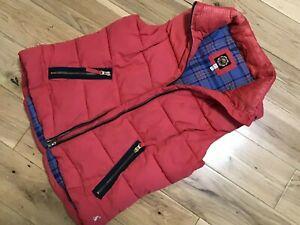 Designer Joules Ladies Red Polyester Wedding Bodywarmer Gilet Jacket Size 12