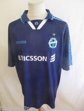 Maillot de football vintage L. BLANC N° 5 OM Socios  Bleu Taille XL