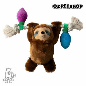Christmas Holiday Let It Glow Sloth Squeaky Rope Dog Toy by Fringe Studios