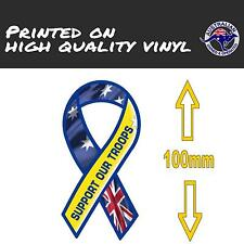 Australian Flag Ribbon Sticker (100mm) CAR STICKER Support Our Troops