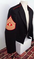 USMC NON-COMMISSIONED OFFICER EVENING MESS DRESS JACKET SZ 37L MILITARY GUNNERY