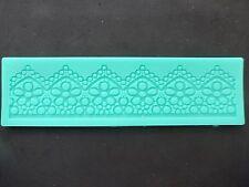 Silicone Flower Lace Border Fondant Gumpaste Mould Decoration Sugarpaste Icing