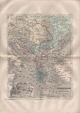 Landkarte map 1856: TÜRKEI. Europa. Russland Österreich Italien