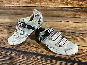 SIDI Five Road Cycling Shoes Clipless Biking Boots Size EU 44 with Cleats