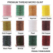 Riverruns Micro Glint Nymph Thread, Holo Flat Tinsel, Fluo Thread Fly Tying