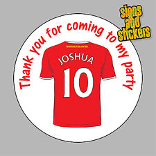 40 Personalised Manchester United Party Stickers Bag Seals Invites any name age